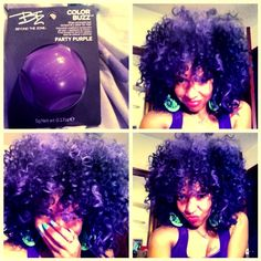 naturally curly purple hair - Google Search