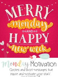 Merry Monday and a Happy New Week!    Monday motivation will be easy all year long!     *22 short stories and positive messages   *22 posters Letters for bulletin board M-O-N-D-A-Y(letter size 5x5) M-O-T-I-V-A-T-I-O-N (letter size 3.4x3.5) Word art- QUOTE OF THE WEEK  How to use it: The file comes in PNG and PDF.  Email the PNG every Monday to your staff and print the matching PDF for display in the workroom, staff common area, or create a Monday Motivation bulletin board.
