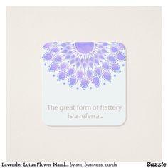 Lavender Lotus Flower Mandala Customer Referral