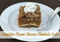 Pumpkin Cream Cheese Crumble Cake