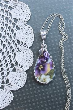 Hey, I found this really awesome Etsy listing at https://www.etsy.com/listing/265718494/necklace-broken-china-jewelry-broken