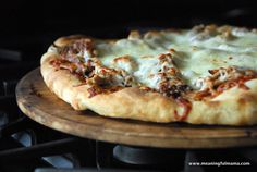 BBQ Pulled Pork Pizza - Meaningfulmama.com More of a reminder than an actual recipe.