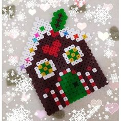 Gingerbread house - Christmas hama beads by erika_cleo