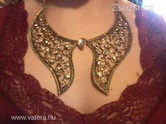 Statement arany színű női nyaklánc - 1000 Ft - Nézd meg Te is Vaterán - Bizsu nyaklánc - http://www.vatera.hu/item/view/?cod=1875106442