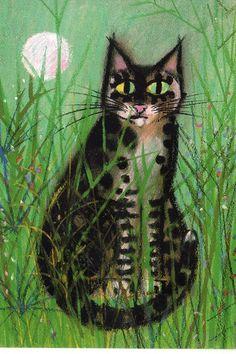 Celestino Piatti cat postcard