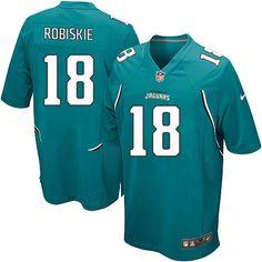 765ff3c69 Youth Nike Jacksonville Jaguars  18 Brian Robiskie Limited Teal Green Team  Color NFL Jersey Sale