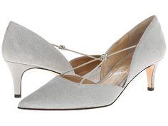 J. Renee - Veeva Silver Fabric Womens Shoes $99.95 AT vintagedancer.com