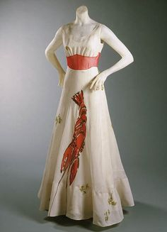 Elsa Schiaparelli is the absolute queen of vintage fashion. I love the quirky appeal of her creations. A lobster on an evening gown?!? Fantastic...