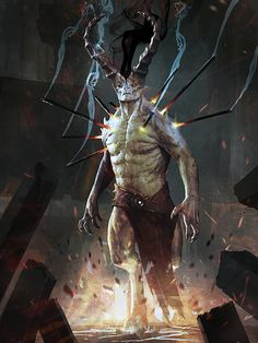 slightly evil horned person by ~IgorKieryluk on deviantART