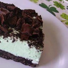 Creme de Menthe Grasshopper Pie Recipe