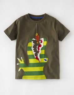 I've spotted this @BodenClothing Big Appliqué T-shirt Khaki/Crocodile $30.00