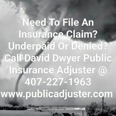 Storm Damage? It is that season! Call David Dwyer Public Adjuster @ 407-227-1963 #stormdamage #insuranceclaim