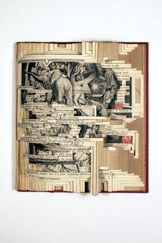 Brian Dettmer's Book Sculptures