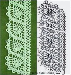 Foto - This page is a photo dump of many patterns. Crochet Bookmark Pattern, Crochet Edging Patterns, Crochet Lace Edging, Crochet Bookmarks, Crochet Borders, Crochet Cross, Crochet Diagram, Doily Patterns, Crochet Chart