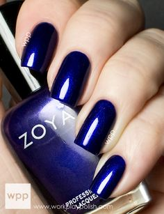 Zoya Neve from the Satins Collection on workplaypolish.  Great site for nail art inspiration.