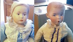 Vintage c. 1984 Porcelain bisque jointed dolls by BuyfromGroovy