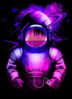 Space Sonata Art Print by Moncheng