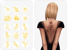 sims 4 cc maxis match clothing Random Flowers: A Sims 4 CC Tattoos Set Mods Sims 4, Sims 4 Mods Clothes, Sims 4 Game Mods, Sims 4 Clothing, Sims 4 Mm Cc, Sims 4 Cc Skin, Maxis, Sims 4 Tattoos, Arm Tattoos