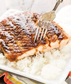 Looking to get more fish in your diet? This easy recipe for Maple Ginger Salmon will make a fish lover out of anyone!