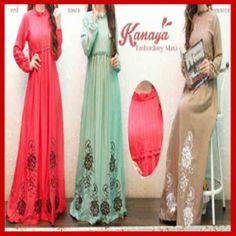Baju Muslim Maxi long Dress modern S433 - Busana Muslim Terbaru
