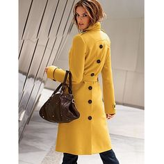 This mustard belted wool trench coat from Victoria Secret is a Fall/Winter must have! #style #wintercoat http://www.latina.com/yellow-coat-victorias-secret#