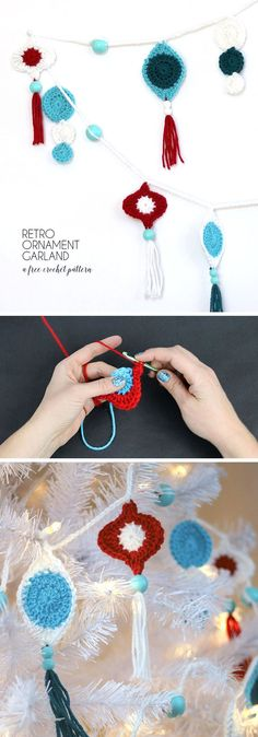Retro Ornament Garland By Alexis - Free Crochet Pattern - (persialou)