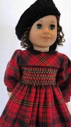 Hand Smocked dress for the American girl doll. $47.00, via Etsy.