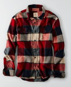 Oh -you like the way he looks in flannel all of a sudden? He has confidence now to wear one? The comfort the style - that was a result of living with ME! Mens Work Shirts, Mens Flannel Shirt, Button Down Shirt Mens, T Shirt, Men Shirts, Plaid Flannel, American Eagle Outfitters, Flannel Outfits, Flannel Fashion