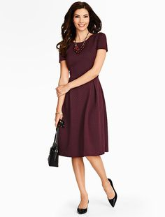 Talbots - Basket-Weave Dress | New Arrivals |