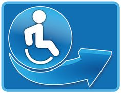 Rollstuhlsymbol Autoaufkleber