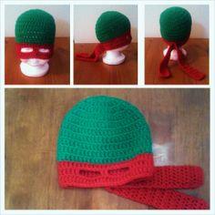 21 super Ideas for crochet baby beanie free pattern boy ninja turtles Crochet Baby Beanie, Crochet Kids Hats, Crochet For Boys, Crochet Gifts, Crochet Yarn, Crochet Hooks, Knit Hats, Irish Crochet, Crochet Clothes