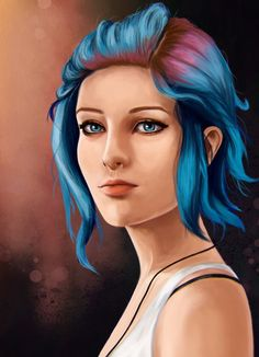 Chloe Price / Life is Strange Life Is Strange Fanart, Life Is Strange 3, Strange Art, Arcadia Bay, Chloe Price, Weird Art, Blue Hair, Fandoms, Fan Art