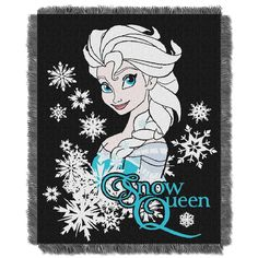 Disney's Frozen Snowy Queen Triple Woven Jacquard Throw (48x60)