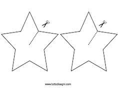 Risultati immagini per sagome stella di natale da ritagliare
