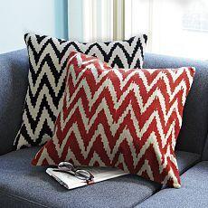 Chevron Crewel Pillow Cover