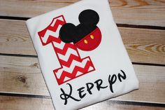 Personalized Mickey Mouse Birthday Number by LenaLaneClothing