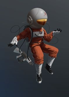 Space Race by Tobias Jones, via Behance Astronauts In Space, Space Race, Sci Fi Art, Ufo, Iron Man, Illustrators, Character Design, Design Inspiration, Racing