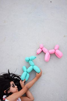 Genähte Luftballontiere