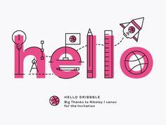 01 dribbble shot hello