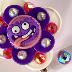 Silly Purple Monster Flip-Top Retractable ID Badge Reel on Etsy, $16.50