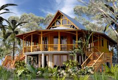 House Plans In Belize Lovely A Bamboo Style House at Bamboo Architecture, Architecture Design, Bamboo House Design, Philippine Houses, Bahay Kubo, Bamboo Structure, Natural Building, Round House, Tropical Houses
