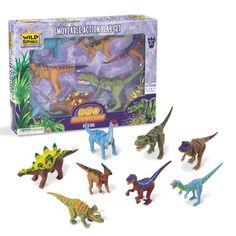 Dinosaurus speelgoed set. Dino speelset bestaande uit verschillende soorten dinosaurussen met bewegende ledematen.