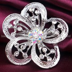 Chic silver brooch #diamante #broach #vintage shoe cake decoration prom bridal pi,  View more on the LINK: 	http://www.zeppy.io/product/gb/2/391212811006/