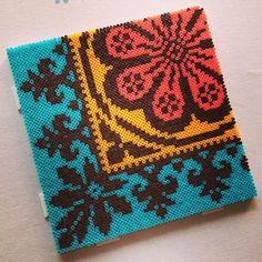Cross-stitch pattern hama mini beads by ingenpingvindirekt