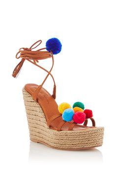 Holi Wedged Sandal by ALAMEDA TURQUESA for Preorder on Moda Operandi
