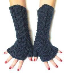 Cute fingerless gloves.