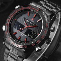 0cc5a65d NAVIFORCE 9024 Luxury Brand Stainless Steel Military Sports Watch #watchMens