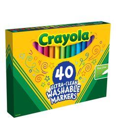 Look at this #zulilyfind! Crayola Washable Fine-Line Marker - Set of 40 by Crayola #zulilyfinds