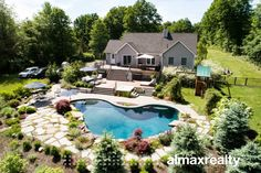 Luxury Hudson Valley Villa for Sale - Rock Tavern, NY - Almax Realty Shiplap Paneling, Energy Star Appliances, Glass French Doors, Summer Paradise, Jacuzzi Tub, Rustic Bathrooms, Hudson Valley, Luxury Villa, Kitchen Styling