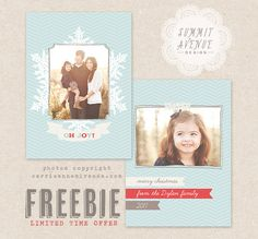 FREE - Holiday Card template with any order of 10 dollars or more.... $5.00, via Etsy.